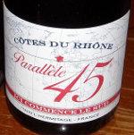Paul Jaboulet Parallele 45- Cotes du Rhone Rouge 2009