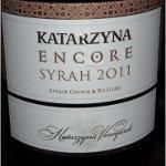 Katarzyna Encore Syrah 2011