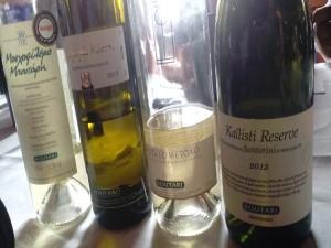 Boutari white wines