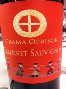 Cabernet Sauvignon 2012 Crama Oprisor Eticheta Rosie