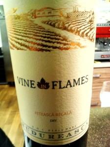 Wine in Flames Feteasca Regala 2014 Budureasca