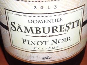 Domeniile Samburesti Pinot Noir 2013