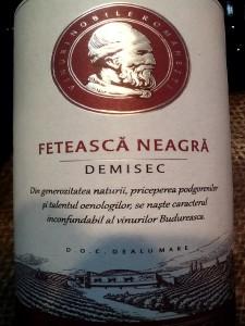 Budureasca Feteasca Neagra 2013 demisec